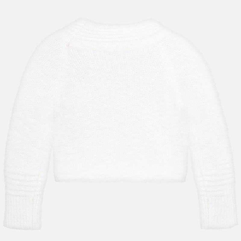 MAYORAL 4301 CREAM FAUX FUR JUMPER