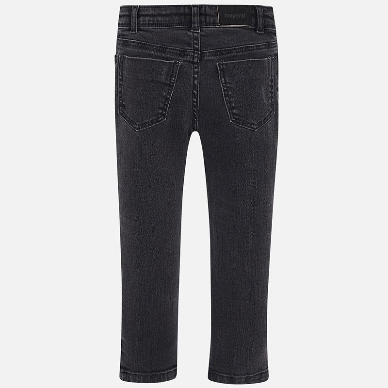 MAYORAL 4502 BLACK LONG DENIM TROUSERS