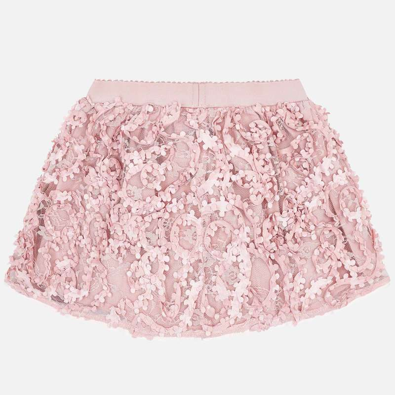 MAYORAL 4902 PINK FLOWER SKIRT