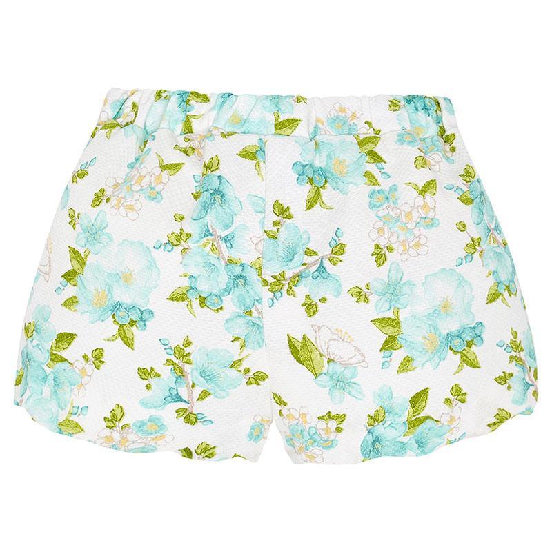 MAYORAL 1268 GREEN FLOWER SHORTS