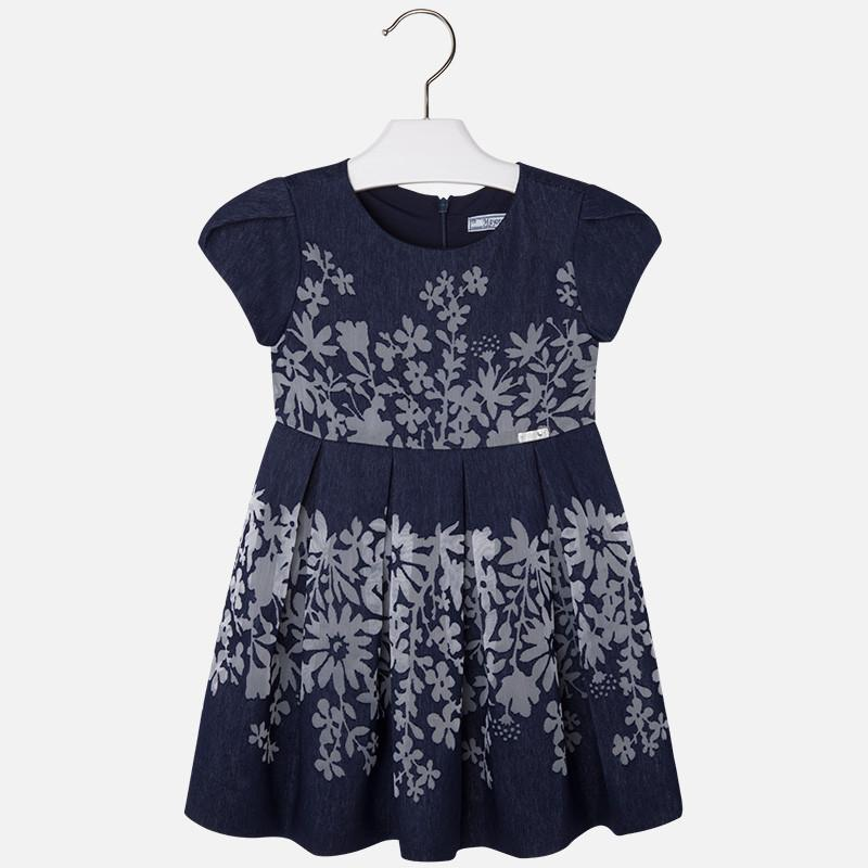 MAYORAL 3937 NAVY FLORAL DRESS