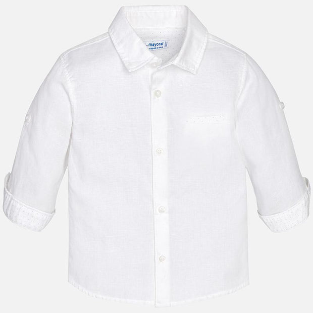 MAYORAL 117 WHITE LONG SLEEVE SHIRT IN STOCK