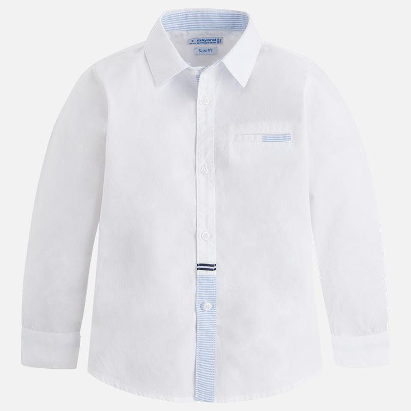 MAYORAL 3172 WHITE LONG SLEEVE SHIRT IN STOCK