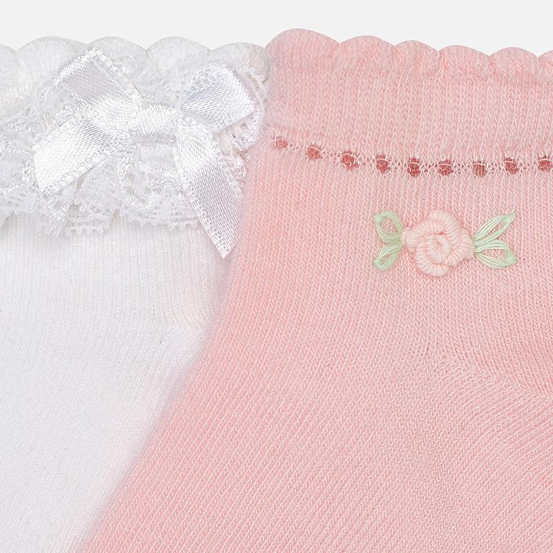 MAYORAL 10347 ROSE DRESSY SOCKS SET IN STOCK