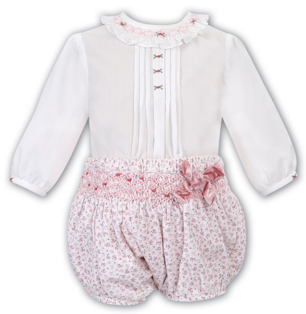 SARAH LOUISE 011674 IVORY PINK TWO PIECE SET IN STOCK