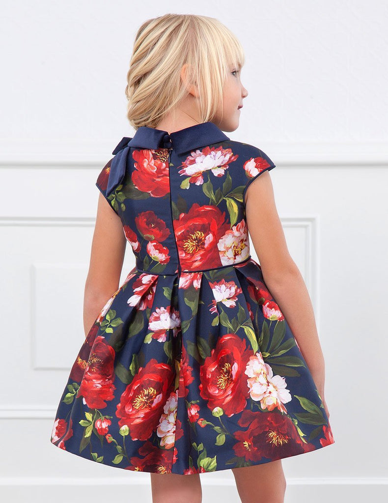 ABEL AND LULA 5560 NAVY BLUE DRESS - Cherubs