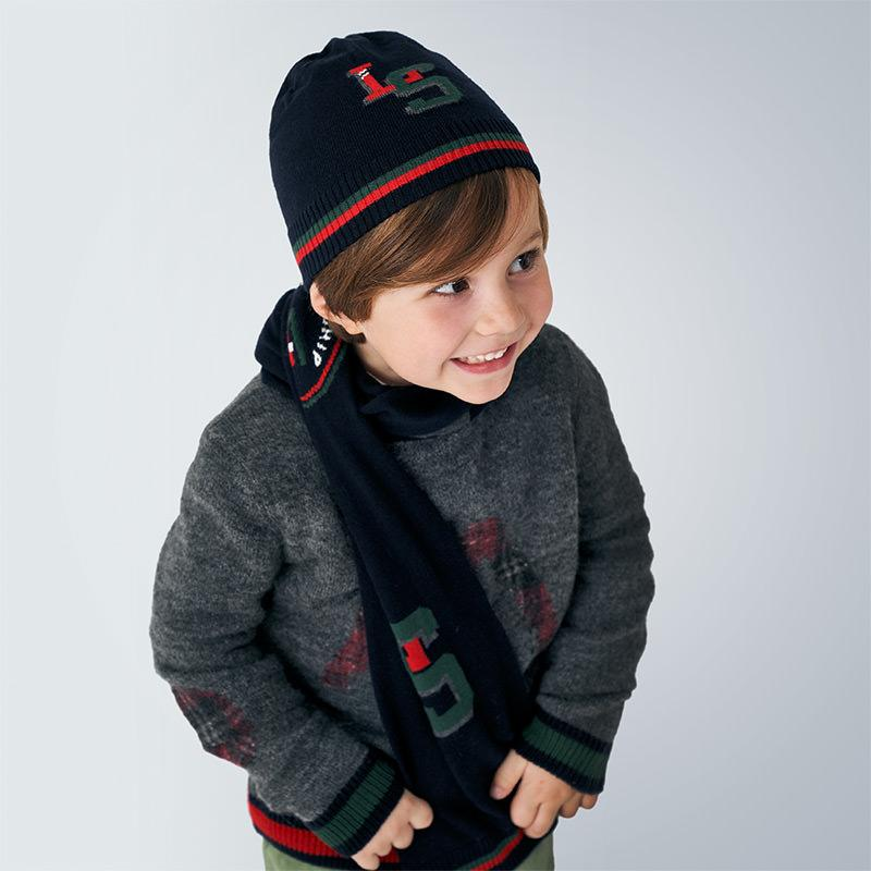 MAYORAL 10893 NAVY HAT AND SCARF - Cherubs