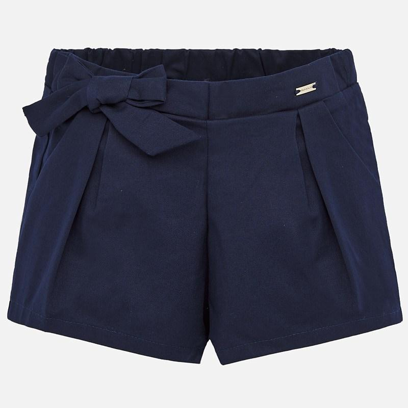 MAYORAL 1201 NAVY BLUE SATIN SHORTS - Cherubs