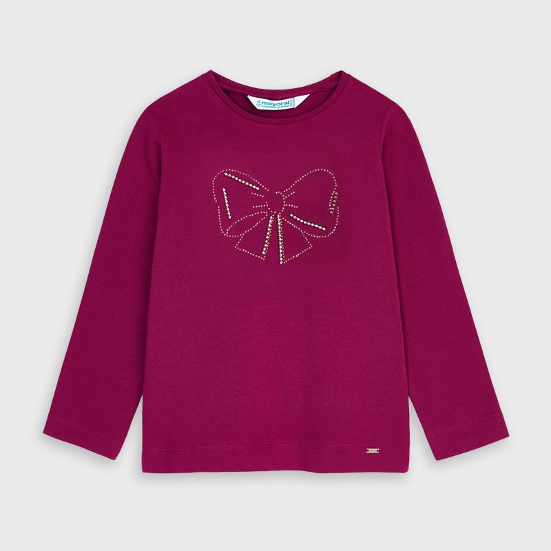 MAYORAL 178 CHERRY LONG SLEEVE TEE-SHIRT IN STOCK - Cherubs