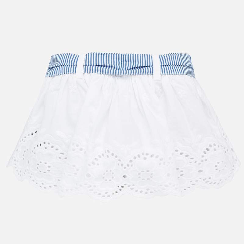 MAYORAL 1901 WHITE BRODERIE ANGLAIS SKIRT - Cherubs