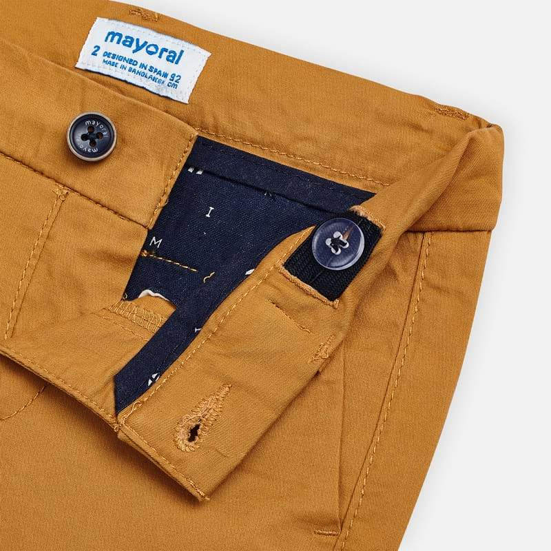 MAYORAL 202 YELLOW TWILL CHINO SHORTS - Cherubs