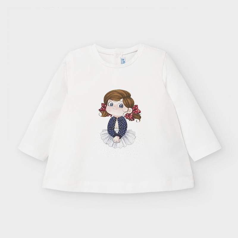 MAYORAL 2059 LONG SLEEVE TEE-SHIRT - Cherubs