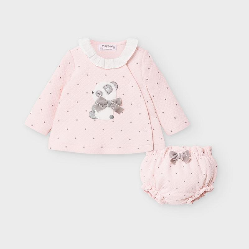 MAYORAL 2211 BABY ROSE JUMPER AND PANTIES SET - Cherubs