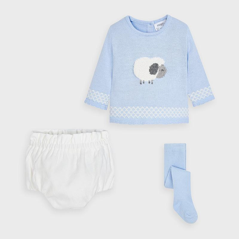 MAYORAL 2212 SKY BLUE JUMPER AND PANTIES SET IN STOCK - Cherubs