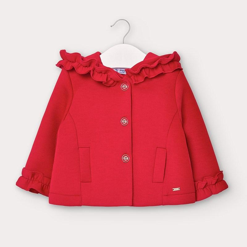 MAYORAL 2404 RED HIGH WAISTED JACKET - Cherubs