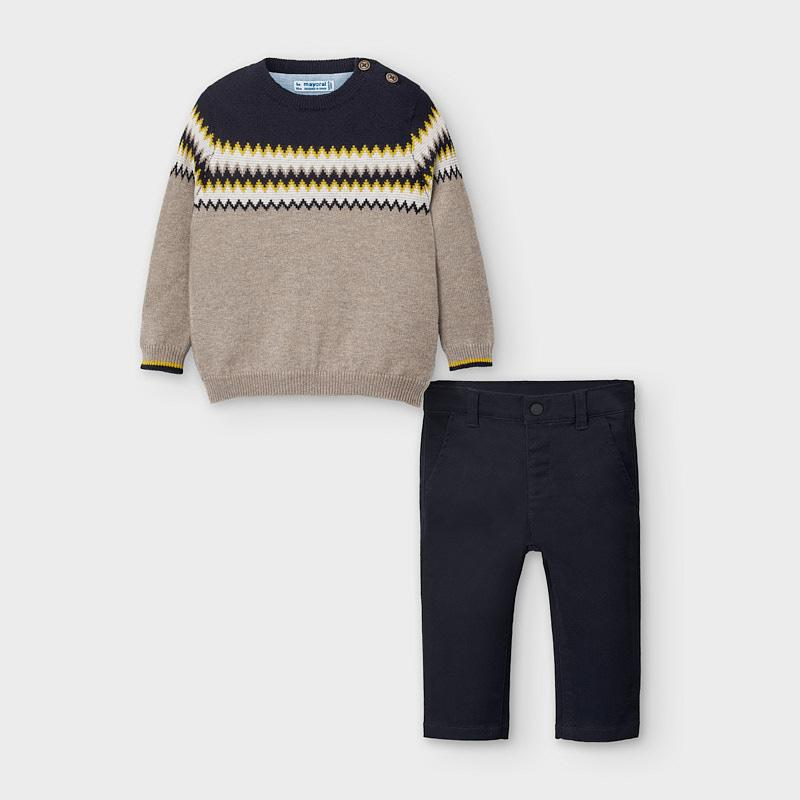 MAYORAL 2586 JUMPER AND NAVY TROUSER SET - Cherubs