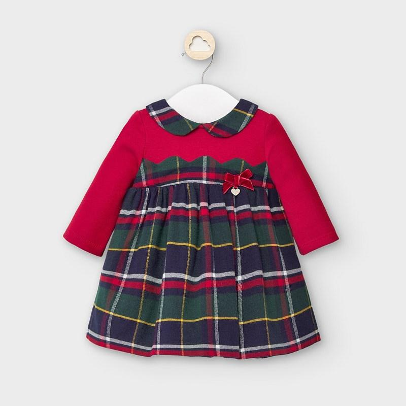 MAYORAL 2873 RED CHECK DRESS - Cherubs