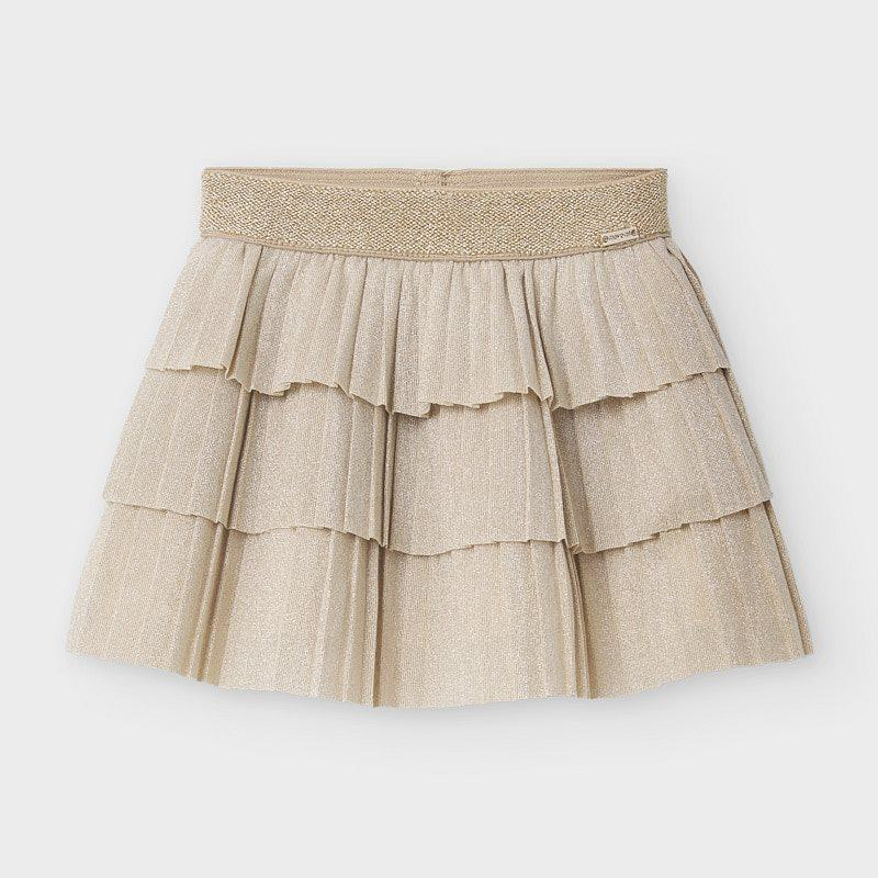 MAYORAL 2940 CHAMPAGNE PLEATED SKIRT - Cherubs