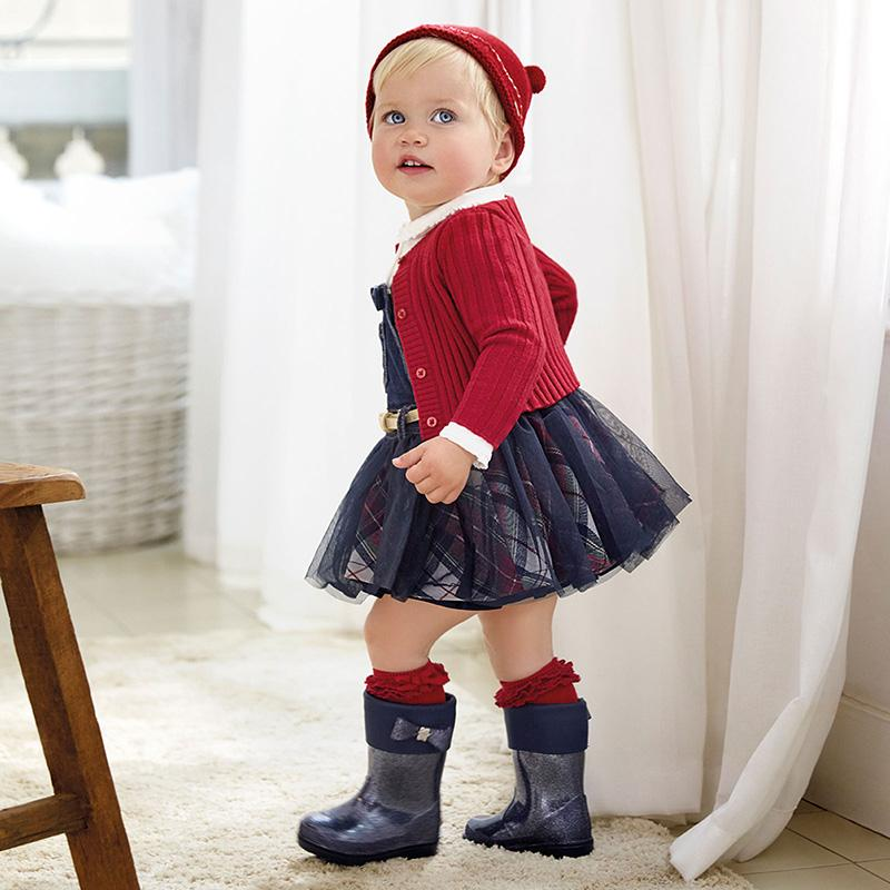 MAYORAL 2943 NAVY BLUE DUNGAREE SKIRT - Cherubs