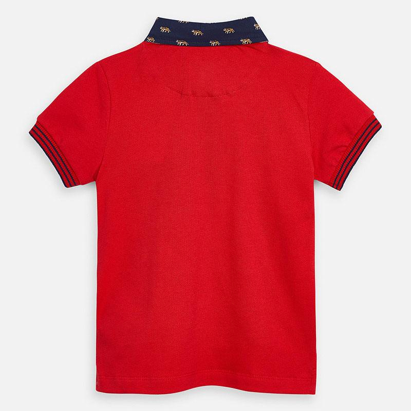 MAYORAL 3145 RED SHORT SLEEVE POLO SHIRT - Cherubs