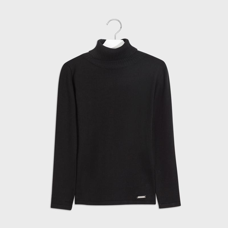 MAYORAL 345 BLACK POLO NECK JUMPER IN STOCK - Cherubs