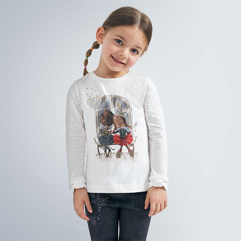 MAYORAL 4067 BLACK LONG SLEEVE TEE-SHIRT - Cherubs