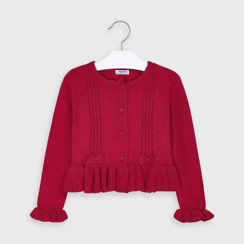 MAYORAL 4350 RED CARDIGAN IN STOCK - Cherubs