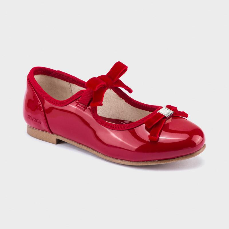 MAYORAL 44111 RED BALLET SHOES - Cherubs