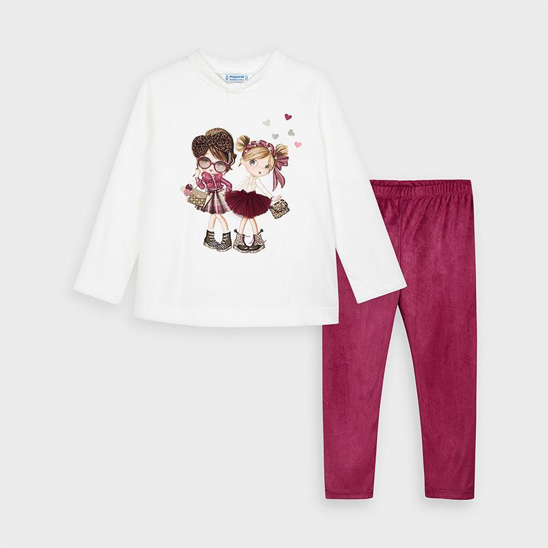 MAYORAL 4724 CHERRY LEGGINGS SET DUE 15/07/2020 - Cherubs