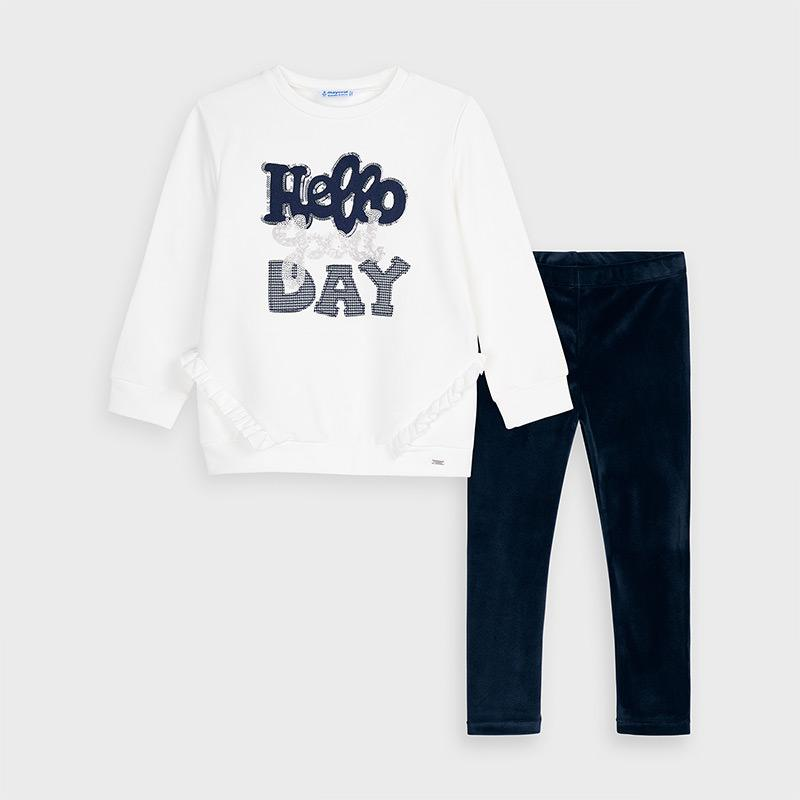 MAYORAL 4728 NAVY BLUE LEGGINGS SET - Cherubs