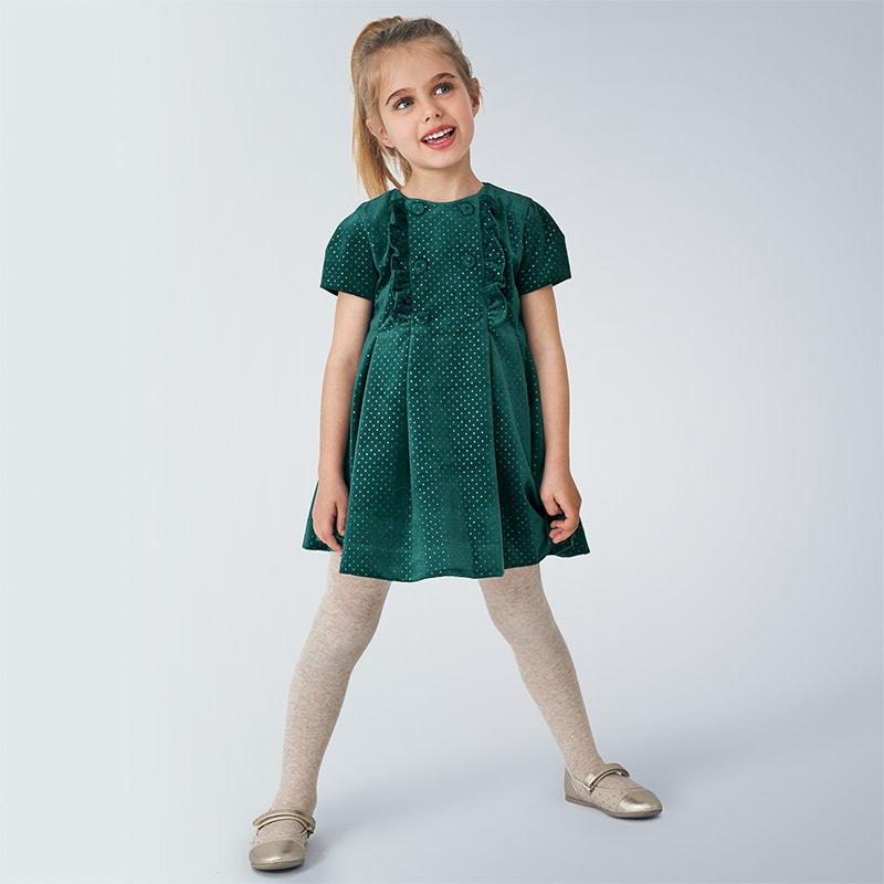 MAYORAL 4972 DUCK GREEN DRESS - Cherubs