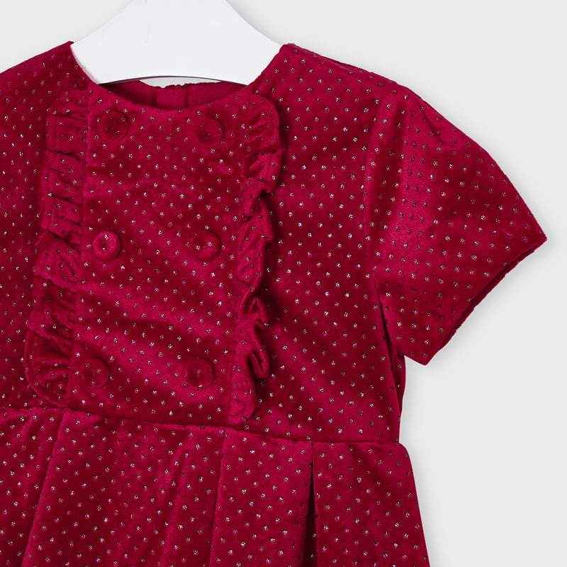 MAYORAL 4972 RED DRESS IN STOCK - Cherubs