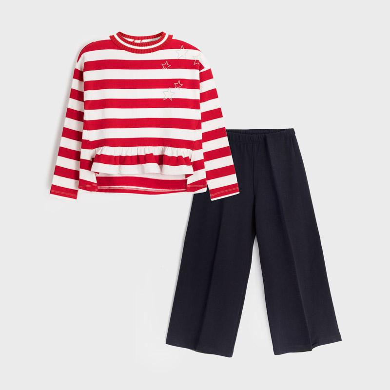 MAYORAL 7545 RED CROPPED TROUSER SET - Cherubs