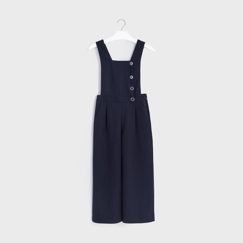 MAYORAL 7601 NAVY BLUE DUNGAREE - Cherubs
