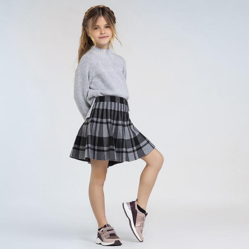 MAYORAL 7945 STEEL CHECK SKIRT - Cherubs