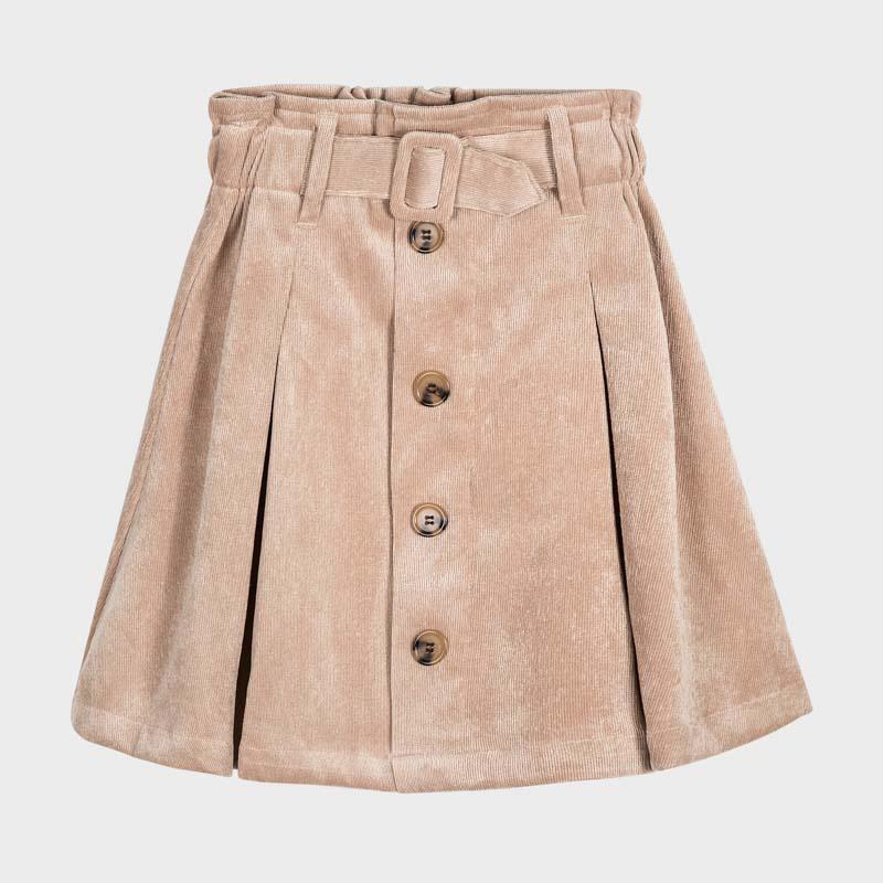 MAYORAL 7946 CREAM CORDUROY SKIRT - Cherubs