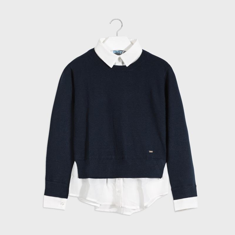 PRE-ORDER MAYORAL 7329 NAVY BLUE JUMPER - Cherubs