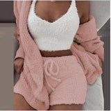 Autumn And Winter Season Home Suits 3pcs