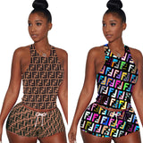 Printed Tank Tops And Shorts 2 Piece Set