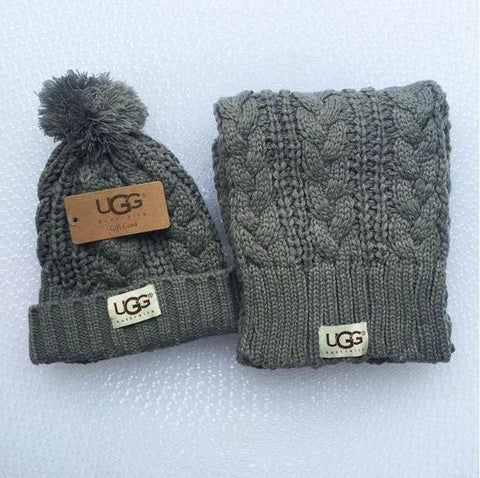 UGG Hats & Scarves Winter Knit Set