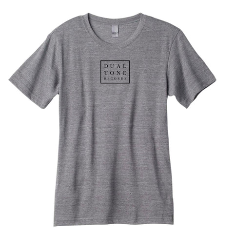Grey Dualtone Logo Shirt Dualtone Music Group
