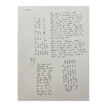 Load image into Gallery viewer, Handwritten Lyrics by The Lone Bellow