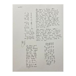 Handwritten Lyrics by The Lone Bellow