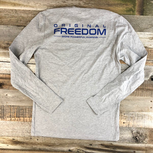 Original Freedom Premium Long Sleeve- Heather Grey