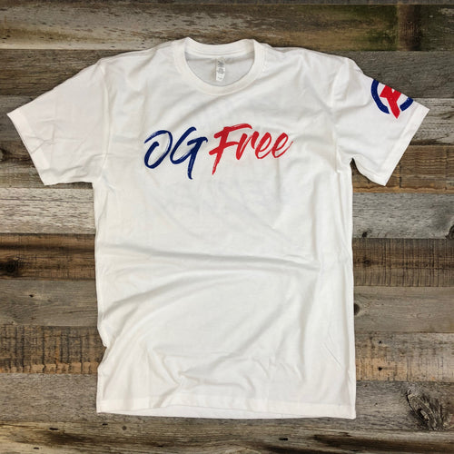 OG Free Stand & Deliver Crew Tee- White