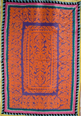 STUNNING BRIGHT HAND-STITCHED, PATCHWORK + REVERSE APPLIQUE RALI (QUILT/THROW) MADE BY MEGHWAR TRIBAL WOMRN, SINDH, PAKISTAN