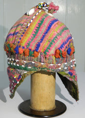 Vintage beautiful old faded baby's cap from Indus Kohistan, Pakistan