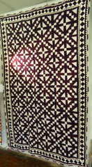 FULLY HAND-STITCHED PATCHWORK RALI QUILT/THROW MADE BY MEGHWAR WOMEN OF SINDH, PAKISTAN