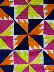 Fully hand-stitched patchwork ralli quilt/throw made by Meghwar women, Sindh, Pakistan