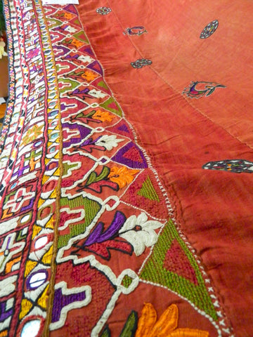 Museum piece: LOHANA or MEMON community embroidered PARHA (skirt length), Tharparker, Pakistan or Banni, Gujarat, India